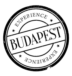Budapest stamp rubber grunge vector