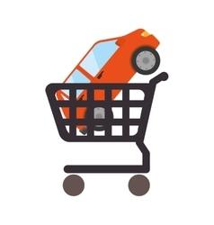 Car cart shop vector