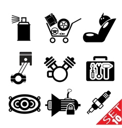 Car part icon set 10 vector