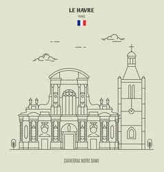 Cathedral notre dame of le havre vector