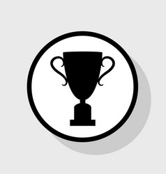 champions cup sign flat black icon in vector image