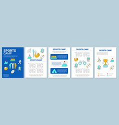 championship tournament training camp brochure vector image