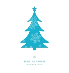 Christmas trees frame blue snowflakes textile vector image