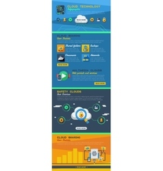 Cloud Service Infographics vector