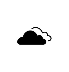clouds icon black on white vector image