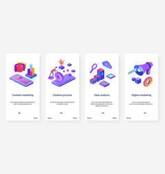 content marketing digital technology ux ui vector image