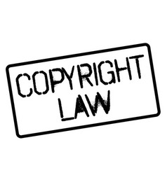 Copyright law stamp on white vector