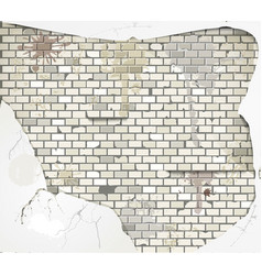 damaged wall vector image