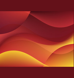 Dynamic textured background with orange waves vector