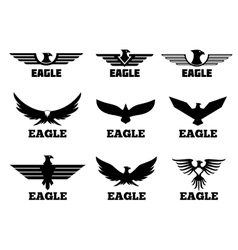 Eagles logo set vector image