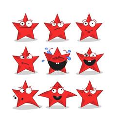 emoji stars icons vector image