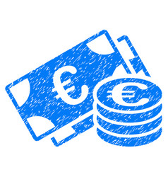 Euro money grunge icon vector