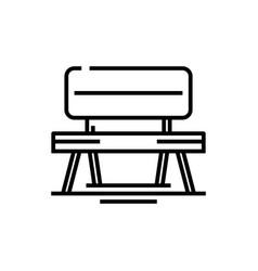 garden bench line icon concept sign outline vector image