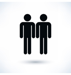Gay marriage homosexual black icon vector