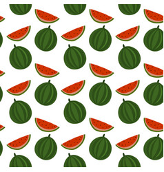 Hand drawn watermelon seamless patter vector