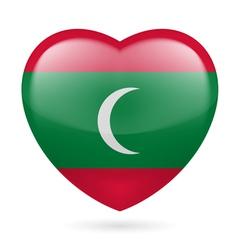 Heart icon of Maldives vector