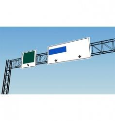 Highway sign vector