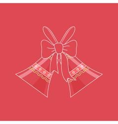 Holiday Crystal Glass Jingle Bells vector