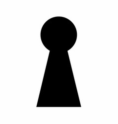 keyhole dark silhouette vector image
