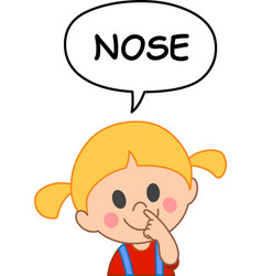kid nose vector image