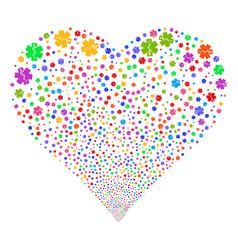 Life star fireworks heart vector