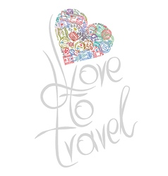 love to travel vector image