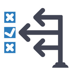Management strategy plan icon vector
