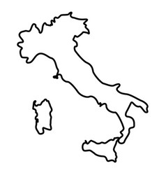 map of italy icon black color flat style simple vector image