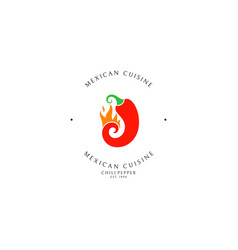 mexican food logo template vector image
