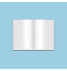 Mockup blank open magazine vector