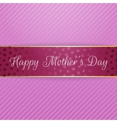 Mothers day realistic greeting bend banner vector