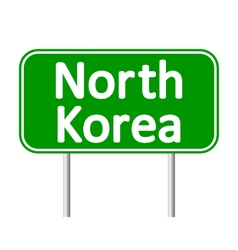 North Korea road sign vector