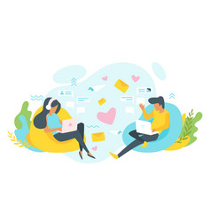online dating concept vector image