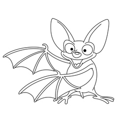 outlined bat vector image