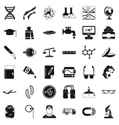 Perfect technology icons set simple style vector