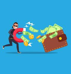 Phishing money concept cyber banking vector