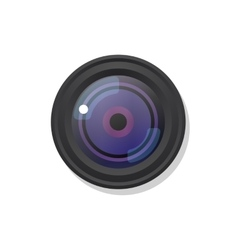 Photo camera symbol icon on white vector
