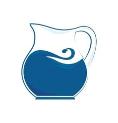 pitcher liquid drink icon graphic vector image