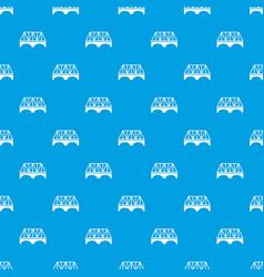 Railway arch bridge pattern seamless blue vector