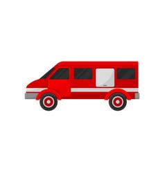 red fire van emergency vehicle side view vector image