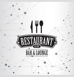 restaurant menu geometric connection background vector image