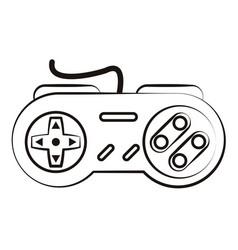 Retro console gamepad sketch vector