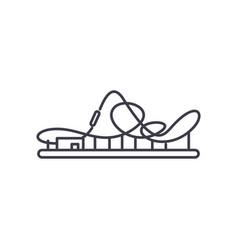 roller coaster line icon concept roller coaster vector image
