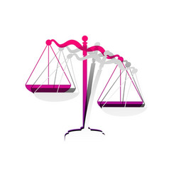 scales of justice sign detachable paper vector image