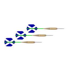 scotland white and blue cross flag dart set vector image