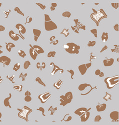 Seamless pattern with flat icons of the human vector