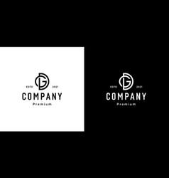 set creative monogram letter gd logo template vector image