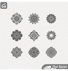 set line thai art design vector image