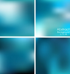 set of blue blurred background vector image