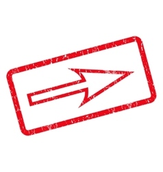 Sharp Arrow Right Icon Rubber Stamp vector
